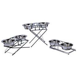Buy Tri-Stage Stainless Steel Double Diner online in Canada from Canadian Pet Connection