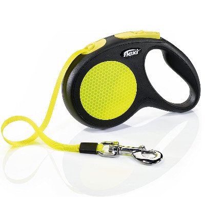 buy Flexi Neon Reflective Tape Dog Leash