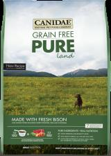 CANIDAE Grain Free Dog Food -Pure Land (Grain Free Bison and Lamb)- for All Life Stages