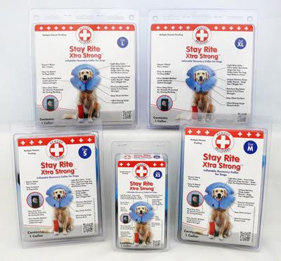 STAY RITE™ Xtra Strong Inflatable Recovery Collar for Dogs