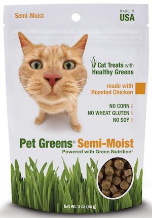 PET GREENS (By Bell Rock Growers) - Semi Moist Cat Treats - Roasted Chicken / Deep Sea Tuna / Savory Salmon / Turkey & Duck