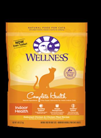 WELLNESS COMPLETE HEALTH Indoor Health Chicken Dry Cat Food - Indoor Cat and Diet Food for All Ages