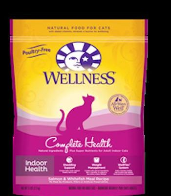 WELLNESS COMPLETE HEALTH Indoor Health Salmon and Whitefish Dry Cat Food - Indoor Cat and Diet Food for All Ages