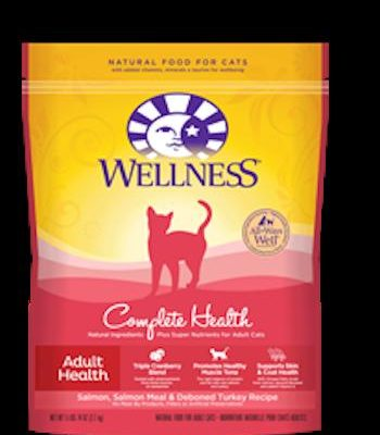 WELLNESS COMPLETE HEALTH Salmon Dry Cat Food for All Ages