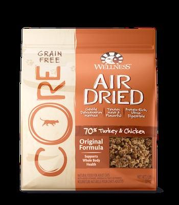 WELLNESS CORE GRAIN FREE Air Dried Original Dry Cat Food for All Ages