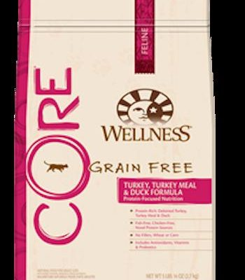 WELLNESS CORE GRAIN FREE Turkey, Turkey Meal and Duck Dry Cat Food for All Ages