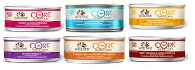 WELLNESS CORE GRAIN FREE Wet Cat Food (Sold by the Case) - All Flavours for All Ages