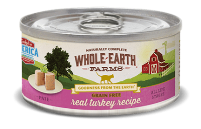 WHOLE EARTH FARMS Grain Free Canned Cat Food by Merrick (Sold by the Case) - All Sizes and All Flavours for All Ages