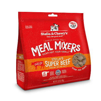 buy Stella-and-Chewys-Raw-Freeze-Dried-Super-Beef-Meal-Mixers-Dog-Food