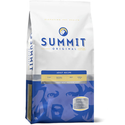 Summit 3 meat dog food blue bag adult canada