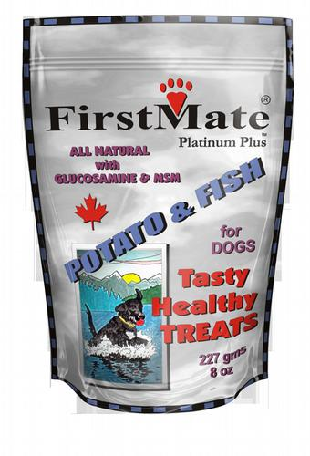 FIRST MATE Potato and Fish Dog Treats and Biscuits 8OZ
