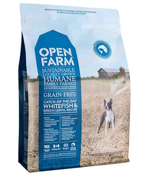 OPEN FARM Dry Dog Food - Catch-of-the-Day Whitefish & Green Lentil Grain Free for All Life Stages