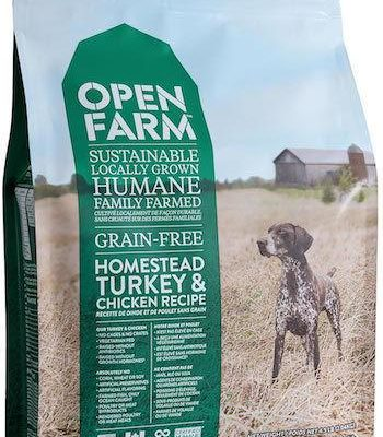 OPEN FARM Dry Dog Food - Homestead Turkey and Chicken - Grain Free for All Life Stages