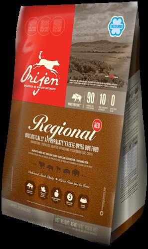 ORIJEN Freeze Dried Adult Dog Food - Regional Red - Grain Free