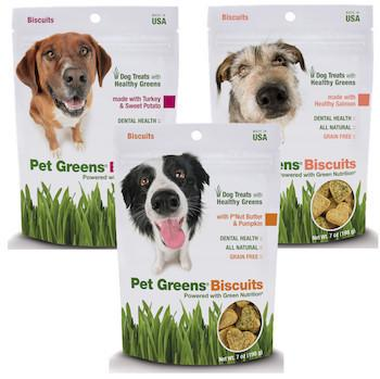 PET GREENS (By Bell Rock Growers) - Dog Biscuits - P'Nut Butter & Pumpkin / Healthy Salmon / Turkey & Sweet Potato