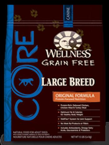 WELLNESS CORE GRAIN FREE Large Breed Formula Dry Dog Food for All Life Stages