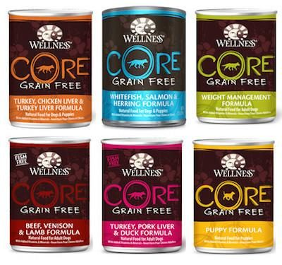 WELLNESS CORE GRAIN FREE Canned Dog Food for All Life Stages