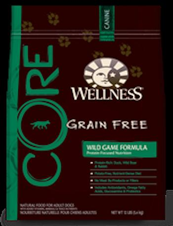 WELLNESS CORE GRAIN FREE Wild Game Formula Dry Dog Food for All Life Stages
