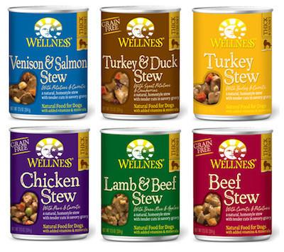 WELLNESS Stews Canned Dog Food for All Life Stages