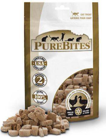 PUREBITES Cat Treats - Freeze Dried Chicken Breast & Duck Liver