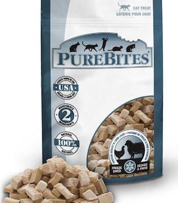 PUREBITES Cat Treats - Freeze Dried Chicken Breast & Lamb Liver