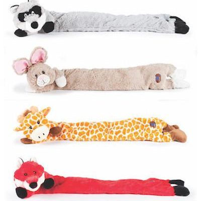 CHARMING PET - PLUSH DOG TOYS - Longitudes - Rabbit / Giraffe / Fox / Raccoon