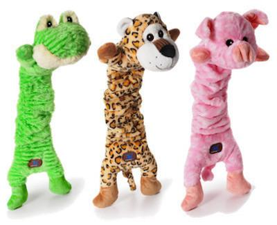 CHARMING PET - PLUSH DOG TOYS - Mumbo Jumbos - Frog / Leopard / Pig
