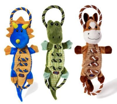 CHARMING PET - PLUSH DOG TOYS - Ropes-A-Go-Go - Dragon / Gator / Horse