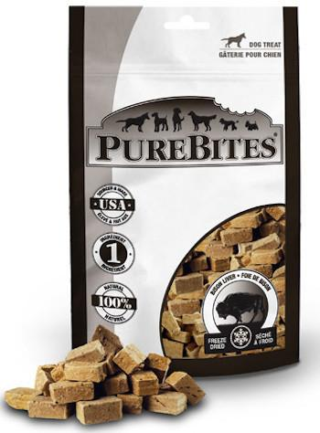 PUREBITES Dog Treats - Freeze Dried Bison Liver