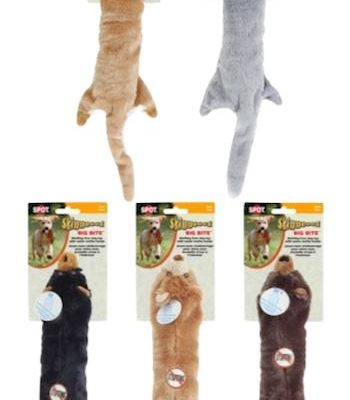 SKINNEEEZ DOG TOYS - BIG BITE (Water Bottle Inside) - Bear / Wolf / Coyote