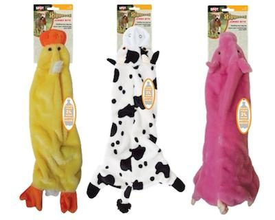 SKINNEEEZ DOG TOYS - JUMBO BITE (Water Bottle Inside) - Cow / Pig / Duck