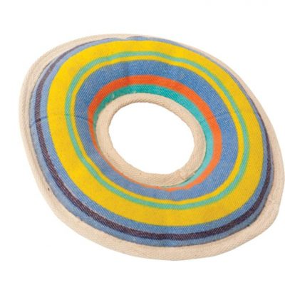 Squeaky Floating Rugged Canvas Flyer - Water Dog Toys by Huggle Hounds