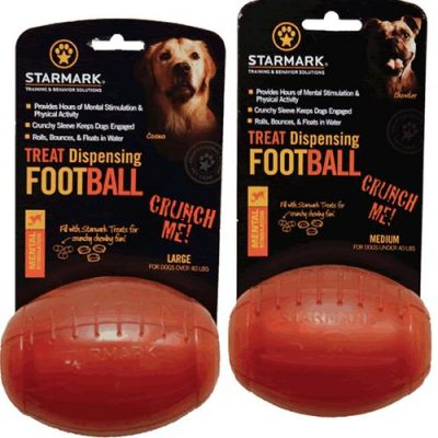TREAT DISPENSING Jack or Football Toy by Triple Crown / StarMark