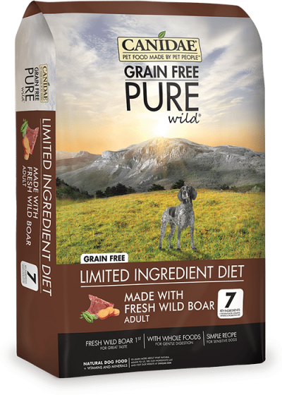 Canidae Adult Dog Food Pure Wild Grain Free with Wild Boar