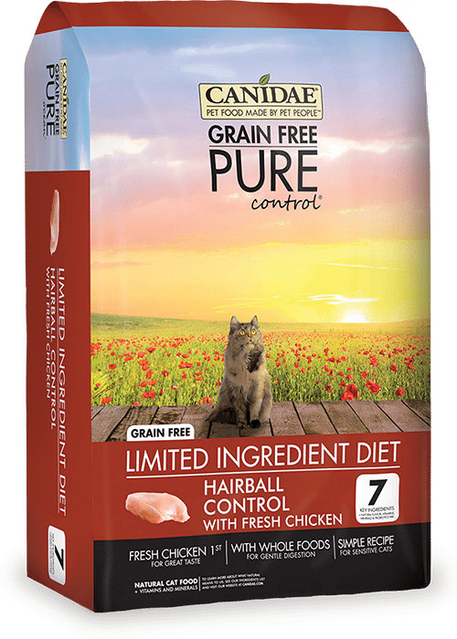 Canidae Grain Free Pure Control Hairball Control Cat food with Chicken