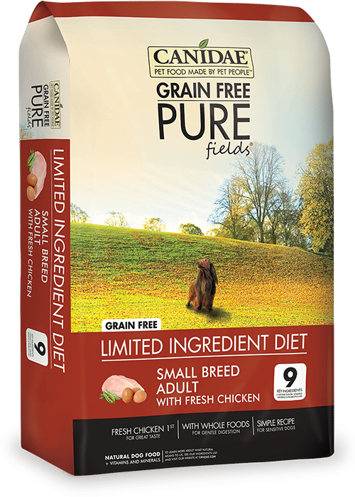 Canidae Pure Fields Grain Free Dog Food for Small Breeds with Chicken