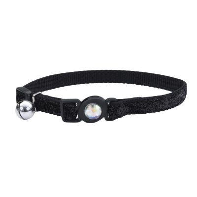Coastal Safe Cat Jeweled Buckle Adjustable Breakaway Collar with Glitter Overlay
