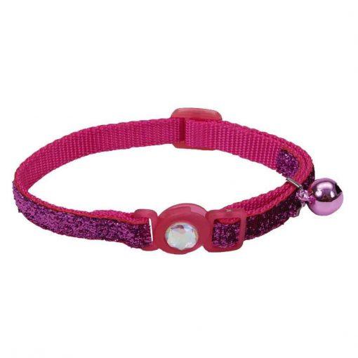 Coastal Safe Cat Jeweled Buckle Adjustable Breakaway Collar with Glitter Overlay