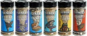 FLUKERS Freeze Dried Foods - Blood Worms / Daphnia / Grasshoppers / Crickets / Mealworms / River Shrimp