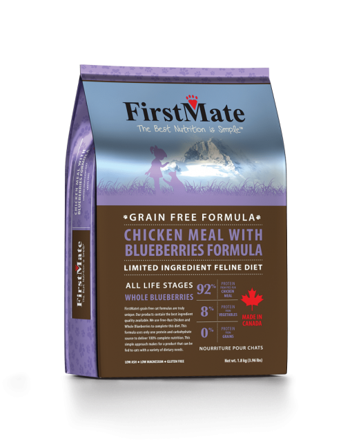 First Mate Chicken with Blueberries Grain Free Cat Food - for All Ages