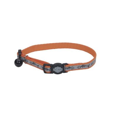 Coastal Harley-Davidson Reflective Adjustable Breakaway Cat Collar