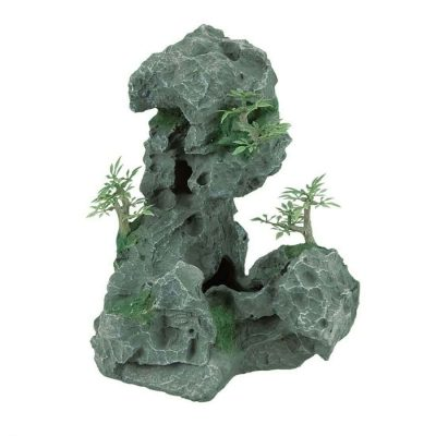 Zilla Granite Cave with Foliage Terrarium Accessory