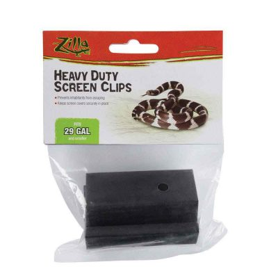 Zilla Heavy Duty Screen Clips Terrarium Accessory