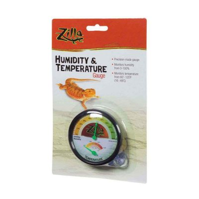 Zilla Terrarium Humidity & Temperature Gauge