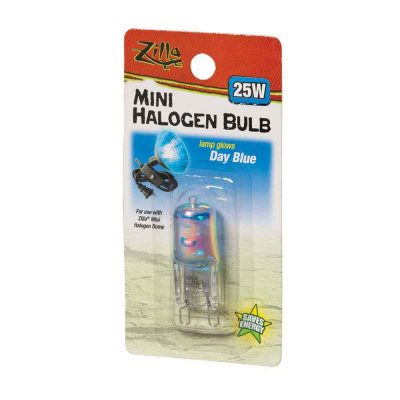 Zilla Terrarium Mini Halogen Bulb - Day White, Day Blue, Night Red