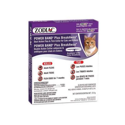 ZODIAC® Power Band Plus ll Dual Action Flea and Tick Collar for Dogs, Puppies, Cats or Kittens