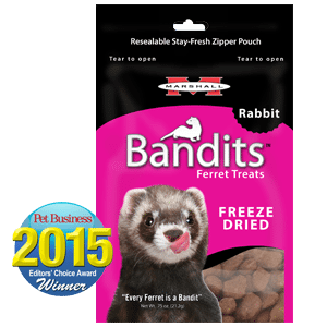 Marshall Bandits Freeze Dried Rabbit Treats for Ferrets