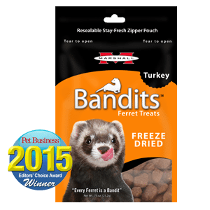 Marshall Bandits Freeze Dried Turkey Treats for Ferrets