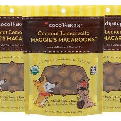 Coco Therapy Maggie's Macaroons Coconut Lemoncello Dog Treats - Grain Free