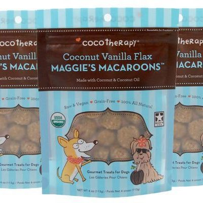 Coco Therapy Maggie's Macaroons Coconut Vanilla Flax Dog Treats - Grain Free